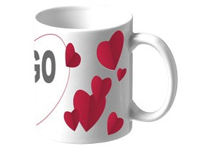 Valentine Sublimation Mug personnalisable Bullet