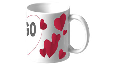Valentine Sublimation Mug personnalisable Bullet par Stimage's
