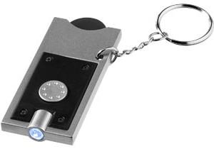 Porte-clés avec jeton et lampe-torche Allegro personnalisable Bullet