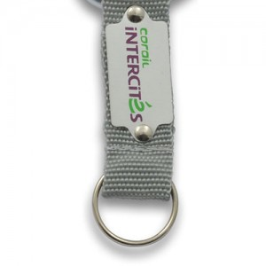 OPTION 2 CARABINER 60/80mm - Strap Nylon + plaque alu + doming quadri sur mesure