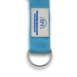 OPTION 3 CARABINER 60/80mm - Strap Nylon patch pvc 1 à 4 couleurs sur mesure