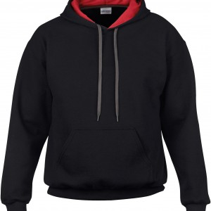 HEAVY BLEND ADULT CONTRASTED HOODED SWEATSHIRT