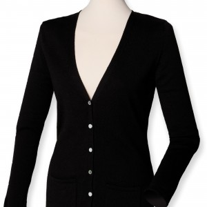 LADIES' V CARDIGAN
