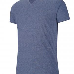 """T-shirt col V manches courtes """"mélange"""" personnalisé avec Stimage's"""
