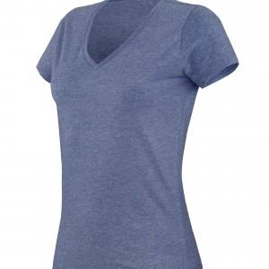 """T-shirt col V manches courtes """"mélange"""" femme personnalisé avec Stimage's"""