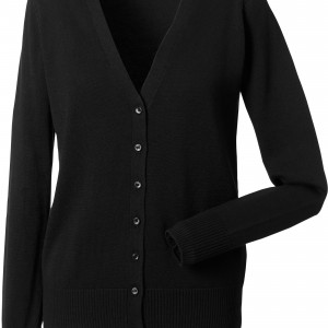 LADIES' V-NECK CARDIGAN