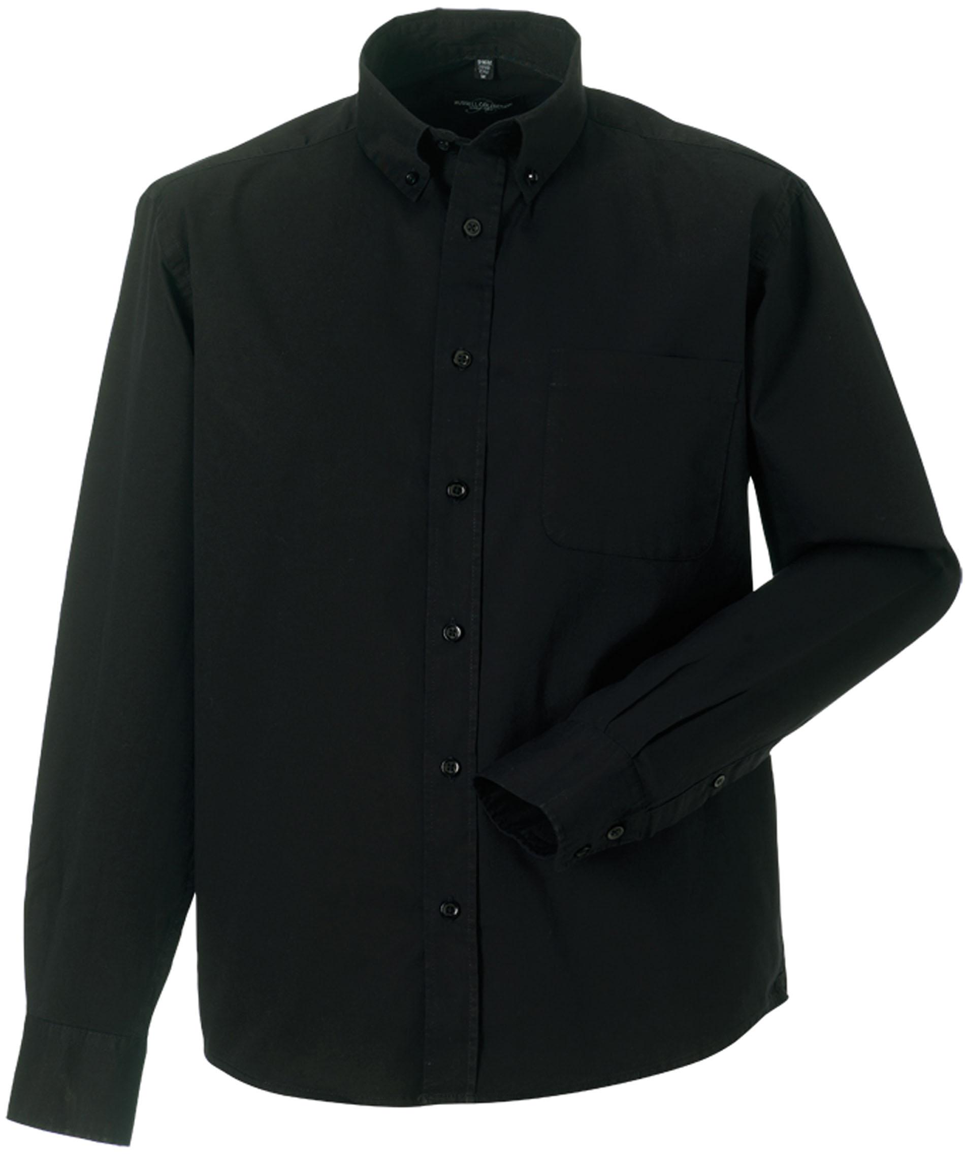 Manches Coton En Sergé Longues Pour Twill Shirt Homme Chemise wzqEPUX