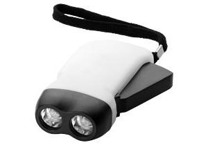 Lampe torche dynamo Virgo personnalisable Bullet