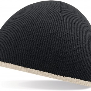 TWO TONE KNITTED HAT