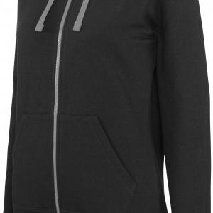 Sweat-shirt zippé capuche contrastée femme personnalisé avec Stimage's